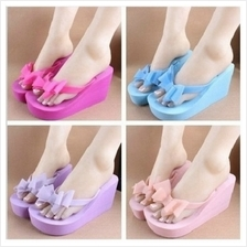 MT004977 Fashion Lady Bow High-heeled Women Beach Slippers Sandals
