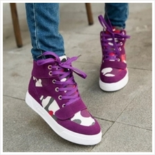 MT004337 Korean Casual Simple High Top Women 's Casual Canvas Shoes