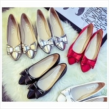 MT010846 Bow Pointed Flat Shoes