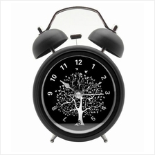 4 inch Metal Double Bell Desk Table Loud Alarm Clock Nightlight Vintag