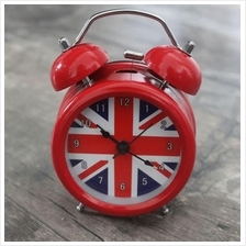 3 Inch British London Flag No ticking Metal Table Desk Alarm Clock