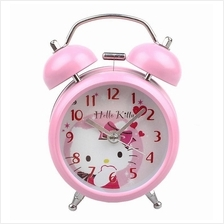 3inch Hello Kitty Alarm Clock Pink Metal Dual Bell Chilren Clock