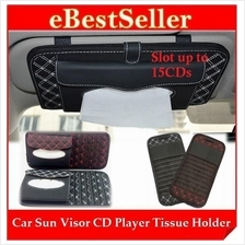 Multipurpose Car Sun Visor CD Disc Player Tissue Paper Box Holder