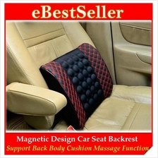 Magnetize Backrest Cushion Car Seat Back Support wf Massage Function