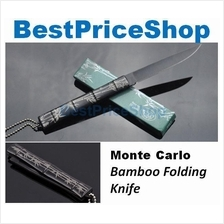 Monte Carlo Bamboo Tactical Folding Knife Defence Tool Hunting Camping