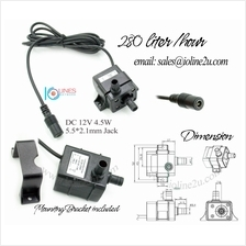 12V DC 5.5mm*2.1mm mini SUBMERSIBLE water pump 280L/hour water Cooling solar a
