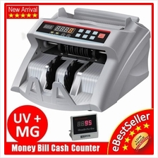 NEW Money Count Bill Cash Notes Counter Machine Bank With UV + MG 3Pin