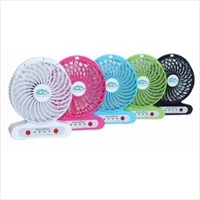 Top Quality Portable Fan 3 Adjustable Speed LED with USB Rechargeable
