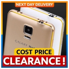 Samsung Note 4 Covered Gold Edge Metal Bumper Back Case Cover Casing