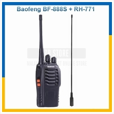 Baofeng BF-888S Walkie Talkie + RH771 High Gain Antenna Single Band