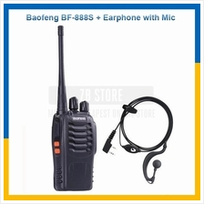 BaoFeng BF-888S 16 Channel Walkie Talkie + Earphone with Microphone
