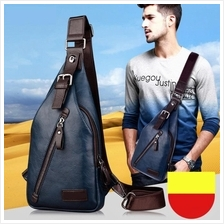 Men PU Leather Sling Shoulder Cross Body Bag