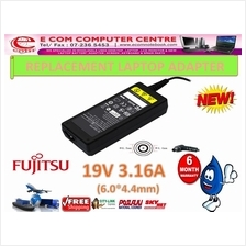 LAPTOP ADAPTER FOR FUJITSU SERIES 19V 3.16A(6.0MM*4.4MM)