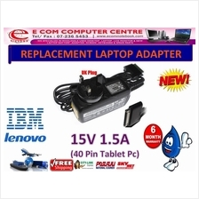 LAPTOP ADAPTER FOR LENOVO/IBM SERIES 15V 5A (40 PIN TABLET PC)