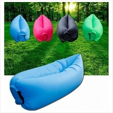 Inflatable Wind Bed Lazy Bag Air Sofa Lamzac w/ Side Pocket Latest Ver