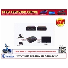 KA022 HDMI to Composite/S-Video+Audio Downscaler