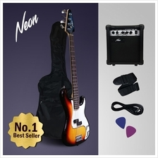 Neon Jumpstart Electric Bass Guitar Package Complete Set