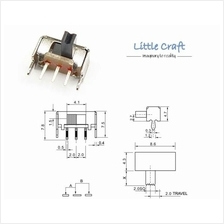 SPDT 3 Pins Right Angle Slide Switch