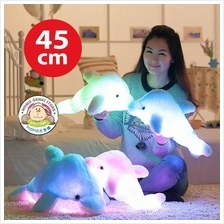 Induction LED Light Luminous Dolphin Plush Pillow Toy Doll 45cm