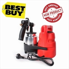 Paint zoom Electric Spray Gun C/w Metal copper Nozzle Aluminium Contai