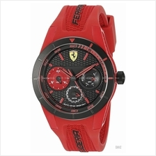 SCUDERIA FERRARI 0830258 Men's RedRev T Chrono Silicone Black Red