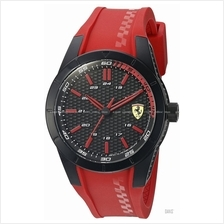 SCUDERIA FERRARI 0830299 Men's RedRev 24-hour Silicone Black Red