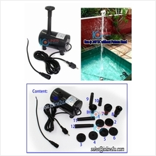 Submersible 6V 12V 24V DC water pump 1350l/h Water fountain Solar 8*pattern He