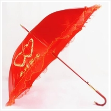 Chinese Wedding Red Umbrella 永结同心