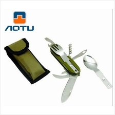 173 - AOTU Portable outdoor camping tableware Meal Set AT6364