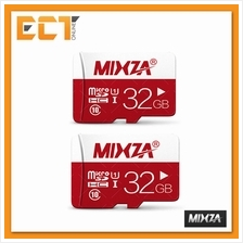 Bundle of 2 Mixza 32GB Class 10 Smart Card Micro SDHC Memory Card