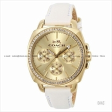 COACH 14502084 Women Boyfriend Multifunction Glitz Leather Gold White