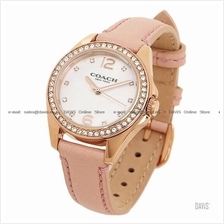 COACH 14502176 Women's Tristen Glitz Leather Strap MOP Pink Blush