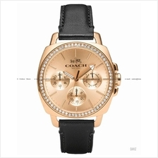 COACH 14502085 Women Boyfriend Multifunction Leather Rose Gold Black