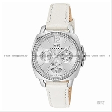 COACH 14502123 Women's Boyfriend Multifunction Glitz Leather White