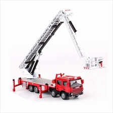 Kaidiwei 1:50 Die Cast Platform Fire Engine Truck Red Color Metal Model New Gi