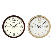 CASIO IQ-71 analog sweep second wooden pattern design wall clock