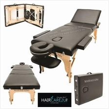 Massage King Portable Wooden Backrest Adjustable Folding Bed Table