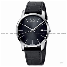 Calvin Klein K2G2G1C3 Men's City Date Leather Strap Grey