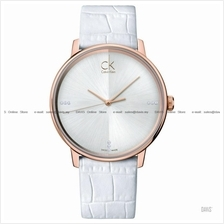 Calvin Klein K2Y2X6KW Men's Accent Diamonds Leather White Rose Gold