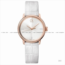 Calvin Klein K2Y2Y6KW Women's Accent Diamonds Leather White Rose Gold