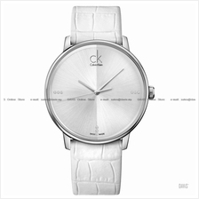 Calvin Klein K2Y2X1KW Men's Accent Diamonds Leather Strap White