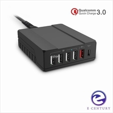 SEENDA Qualcomm Quick Charge 3.0 TypeC Multi USB Hub Charger ICH03SQ53
