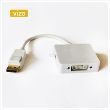 3in1 Mini DP Display Port to HDMI VGA DVI Adapter Cable