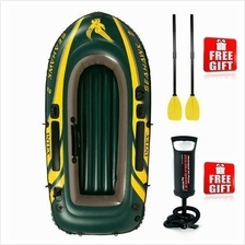 INTEX SEAHAWK INFLATABLE BOAT SET 2/3/4 PERSON FISHING EMERGENCY USE