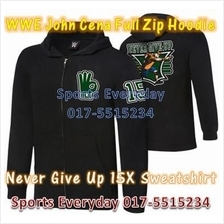 WWE WWF Hoodies Shirts John Cena Black Full Zip WRESTLING BAJU GUSTI