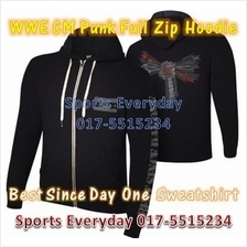 WWE WWF Hoodies Shirts CM Punk Arrow Full Zip WRESTLING BAJU GUSTI