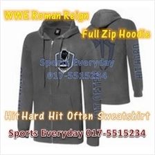 WWE WWF Hoodies Shirts Roman Reigns Grey Full Zip WRESTLING BAJU GUSTI