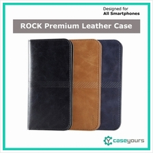 ROCK Leather Wallet Card Holder Flip Case Cover Bag iPhone 5 5s SE 6 6