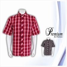 PREMIUM BIG  & TALL Checkered Short Sleeves Shirt PM8191