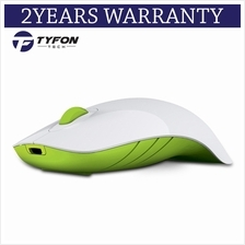Alcatroz Air Shark Wireless Mouse (White Green)